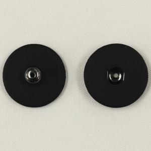 くるみスナップボタン 17mm 09(黒・生地) / 1セット ASP0002 (縫い付けタイプ) ボタン 手芸 通販