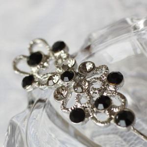 黒とグレーのダイヤをたくさん飾ってかわいくきれい♪ピンブローチ|assure-2|06