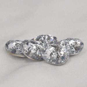 プラスチックボタン (ダイヤモンドカット・透明AB) 10mm 1個入 AZP6479-1 (シャツ・ブラウス・アクセント飾り向) ボタン 手芸 通販|assure-2