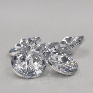 プラスチックボタン (ダイヤモンドカット・透明系) 13mm 1個入 AZP6480-1 (シャツ・ブラウス・アクセント飾り向) ボタン 手芸 通販|assure-2