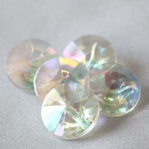 プラスチックボタン (ダイヤモンドカット・白系) 11.5mm 10個入 AZP6480-2 (シャツ・ブラウス・アクセント飾り向) ボタン 手芸 通販|assure-2