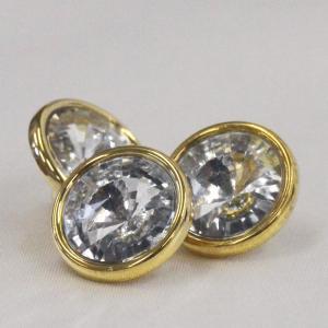 ビジューボタン(ラインストーン) AZP6513-G(ゴールド・クリスタル) 10mm 1個入 ボタン 手芸 通販|assure-2