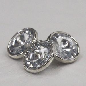 ビジューボタン(ラインストーン) AZP6513-N(ニッケル・クリスタル) 10mm 1個入 ボタン 手芸 通販|assure-2