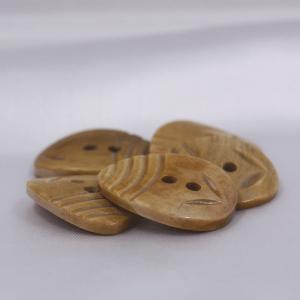 インド製 本水牛ボタン 20x26mm 5個入 ( BC1-08-1) ボタン 手芸 通販|assure-2|04