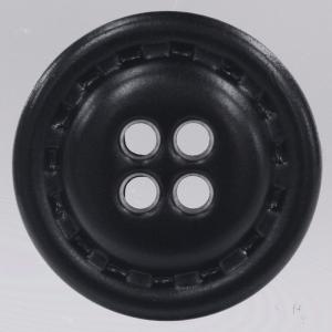 革調プラスチックボタン 11.5mm 黒 1個入 (レザータッチ) / DAR-NC1030-09(黒) ボタン 手芸 通販|assure-2