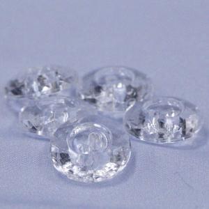 プラスチックボタン (ダイヤモンドカット・透明) 10mm 10個入 F5322 (シャツ・ブラウス・アクセント飾り向) ボタン 手芸 通販|assure-2