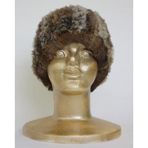 【送料無料】ボリュームたっぷり!天然ラビットファーの帽子 (FK13983-ゴマ)|assure-2