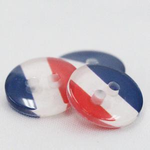 プラスチックボタン (国旗 フランス) 11.5mm 5個入 FLAG-FR  (シャツ・ブラウス向) ボタン 手芸 通販|assure-2