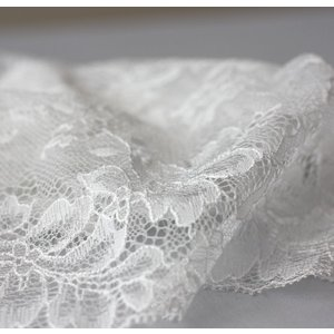 ハンドメイド☆手作り☆デコクロ にいかがでしょうか♪ ラッセルレース ♪ FR18001 White 170mm巾 1m |assure-2
