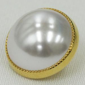 ボタン 手芸 通販  G0201-G(ゴールド・白パール) 15mm 1個入 / デザイン、素材にこだわった高級ボタン|assure-2