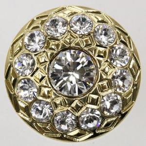 ボタン 手芸 通販  G1705-G(ゴールド・クリスタル) 13mm 1個入 / デザイン、素材にこだわった高級ボタン|assure-2