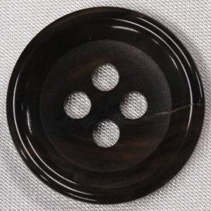 本水牛ボタン (ミディアムブラウン) 15mm  1個入 天然素材 HB190-MB (シャツ・ブラウス・ジャケット・スーツ袖向) ボタン 手芸 通販|assure-2