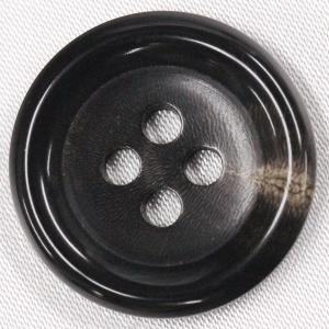 本水牛ボタン (ダークブラウン) 15mm 1個入 天然素材...