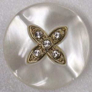 IV009-G01 23mm 6個入 / 宝石のような輝きのボタン