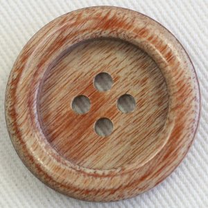 木ボタン(ウッドボタン) (茶) 21mm 1個入 天然素材 K-1500 (20mm代用 スーツ・ジャケット向) ボタン 手芸 通販|assure-2