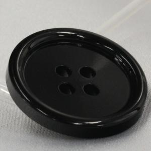 ラクトボタン (黒) 15mm 1個入  カゼイン素材の高級ボタン LH1-09 (シャツ・ブラウス・ジャケット・スーツ袖向) ボタン 手芸 通販  assure-2 04
