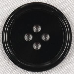 ラクトボタン (黒) 28mm 1個入  カゼイン素材の高級ボタン LH1-09 (ジャケット・コート向) ボタン 手芸 通販  |assure-2