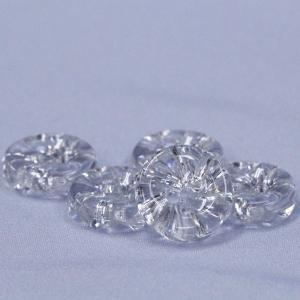 プラスチックボタン (ダイヤモンドカット・透明) 11.5mm 1個入 N56-00 (シャツ・ブラウス・アクセント飾り向) ボタン 手芸 通販|assure-2