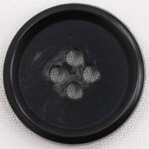 プラスチックボタン 09(黒) 11.5mm 1個入 (水牛調) BF1800 (シャツ・ブラウス向) ボタン 手芸 通販|assure-2