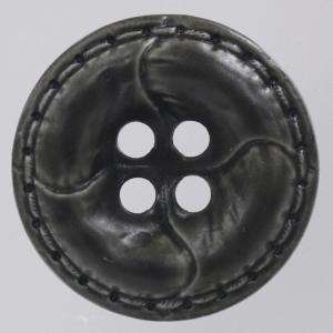 革調プラスチックボタン 23mm 濃グレー 1個入 (レザータッチ) / OW4600-06(グレー系) ボタン 手芸 通販|assure-2