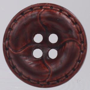 革調プラスチックボタン 18mm 赤茶 1個入 (レザータッチ) / OW4600-45(茶系) ボタン 手芸 通販|assure-2