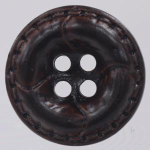 革調プラスチックボタン 25mm 濃茶 1個入 (レザータッチ) / OW4600-48(茶系) ボタン 手芸 通販|assure-2
