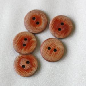 木ボタン(ウッドボタン) (茶) 15mm 1個入 天然素材 OW5600 (シャツ・ブラウス向) ボタン 手芸 通販|assure-2