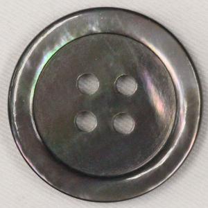 貝ボタン (黒蝶貝) 11.5mm 1個入 天然素材 SB17 (シャツ・ブラウス向) ボタン 手芸 通販|assure-2