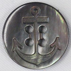 貝ボタン イカリ (黒蝶貝) 15mm 1個入 天然素材 SB505 (シャツ・ブラウス・ジャケット・スーツ袖向) ボタン 手芸 通販|assure-2