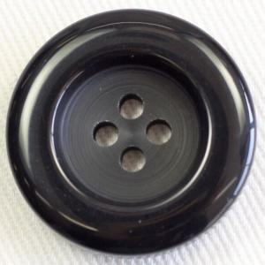 ボタン 手芸 通販  UNICORN777-09(黒) 25mm 1個入 / 高級スコッチボタン(プラスチック)|assure-2