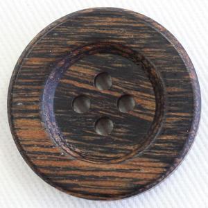 【在庫限り20%off】  天然素材 木(ウッド)ボタン 20mm 四つ穴 OW503 C/#4 1個入  / ボタン 手芸 通販 VAP-30658|assure-2