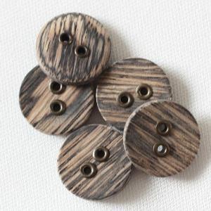 【在庫限り20%off】  天然素材 木(ウッド)ボタン 13mm 二つ穴 OW3400 C/#AG6 1個入  / ボタン 手芸 通販 VAP-30659|assure-2
