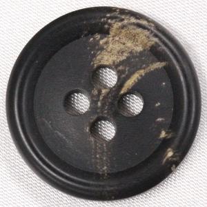 【在庫限り20%off】  本水牛ボタン 23mm 四つ穴 HB120 DB 1個入  / ボタン 手芸 通販 VAP-30668|assure-2