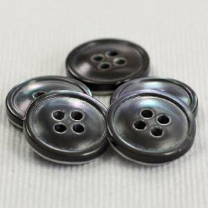 【在庫限り20%off】  天然素材 高瀬貝(スモーク)ボタン 20mm 四つ穴 STB1019 1個入  / ボタン 手芸 通販 VAP-30669|assure-2