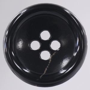 【在庫限り20%off】  プラスチックボタン 25mm 四つ穴 OLD5 C/#09 黒 1個入  / ボタン 手芸 通販 VAP-30670|assure-2