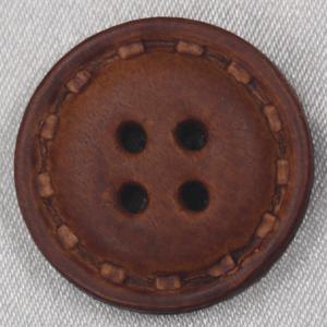 【在庫限り20%off】  本革ボタン 25mm 裏足付 NO21 1 茶 1個入  / ボタン 手芸 通販 VAP-30672|assure-2