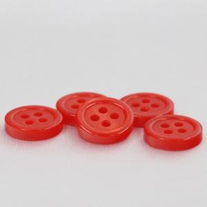 シャツボタン  11.5mm (赤) 10個入 割れ 欠けに強いプラスチック / VSO9001-15 (シャツ・ブラウス向) ボタン 手芸 通販|assure-2