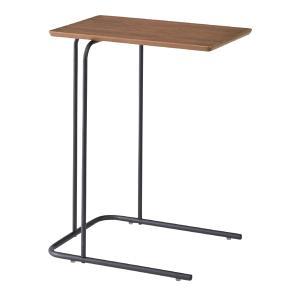サイドテーブル テーブル 机 アーロン ブラウン 茶色 おしゃれ 北欧 天然木 スチール ミニテーブル シンプル モダン END-222BR / 東谷|astas-shop