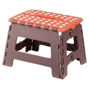 クラフタースツールM 椅子 スツール オレンジ 橙色 おしゃれ 北欧  1人用 一人暮らし 作業椅子 折りたたみ FKF-621OR / 東谷|astas-shop