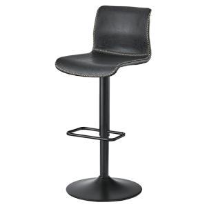 カウンターチェア チェア 椅子 ブラック 黒 おしゃれ 北欧 ソフトレザー スチール ハイチェア 昇降機能付 回転式 PC-254BK / 東谷|astas-shop