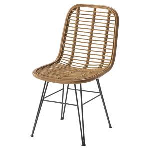 ダイニングチェア チェア 椅子 おしゃれ 北欧 1人掛け 1人用 ラタン スチール脚 籐椅子 パーソナルチェア リゾート風 TTF-930 / 東谷|astas-shop