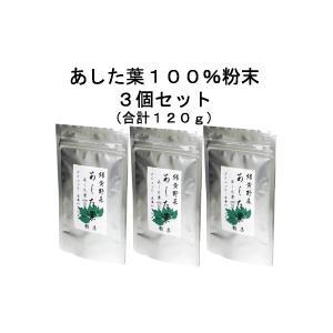 無農薬 あした葉100%粉末 3袋セット|aston