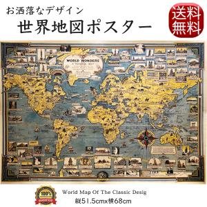 世界地図 アンティーク レトロ ポスター (Aタイプ)