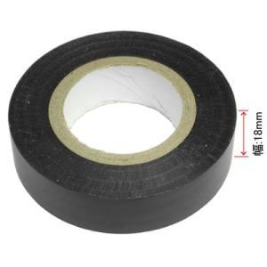 AP ハーネステープ ブラック 18mm×20m【ビニールテープ 絶縁テープ】【ビニテ 粘着 配線加...