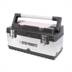 AP SUS ツールボックス with アルミハンドル【工具箱 道具箱 工具ケース】【TOOL BOX アルミ ステン 持ち運び】【アストロプロダクツ】