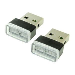 AP USBインレットキャップ ブルーライト 2個セット【USBグッズ ライト パソコン周辺】【USBハブ 埃 ホコリ防止】【アストロプロダクツ】