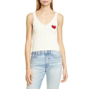 【当日出荷】 ラルフローレン レディース Polo Ralph Lauren Heart Detail Cotton Cable Tank Cream 【サイズ M】 asty-shop2