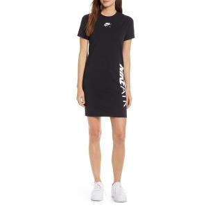【当日出荷】 ナイキ レディース Nike Sportswear Air T-Shirt Dress Black/ White 【サイズ XS】 asty-shop2