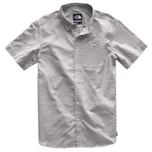 【当日出荷】 ノースフェイス メンズ The North Face Men's Short Sleeve Buttonwood Shirt MidGryFeederHrzntlPld 【サイズ L】 asty-shop2