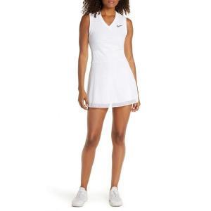 【当日出荷】 ナイキ レディース Nike Court Slam Tennis Dress White/ Black 【サイズ XL】 asty-shop2